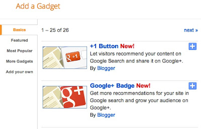 Blogger Introduces New Google+ Gadgets