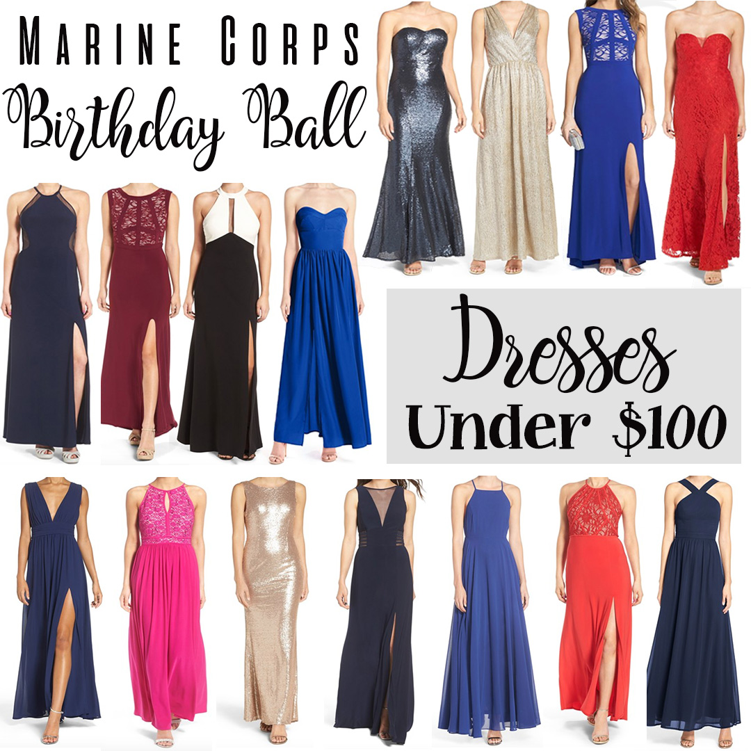 Marine Corps Ball Gowns Under $100 | Styled Blonde