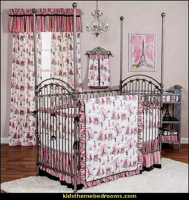 Paris Themed Bedroom Ideas Style Decorating Bedding Tre Chic Crib