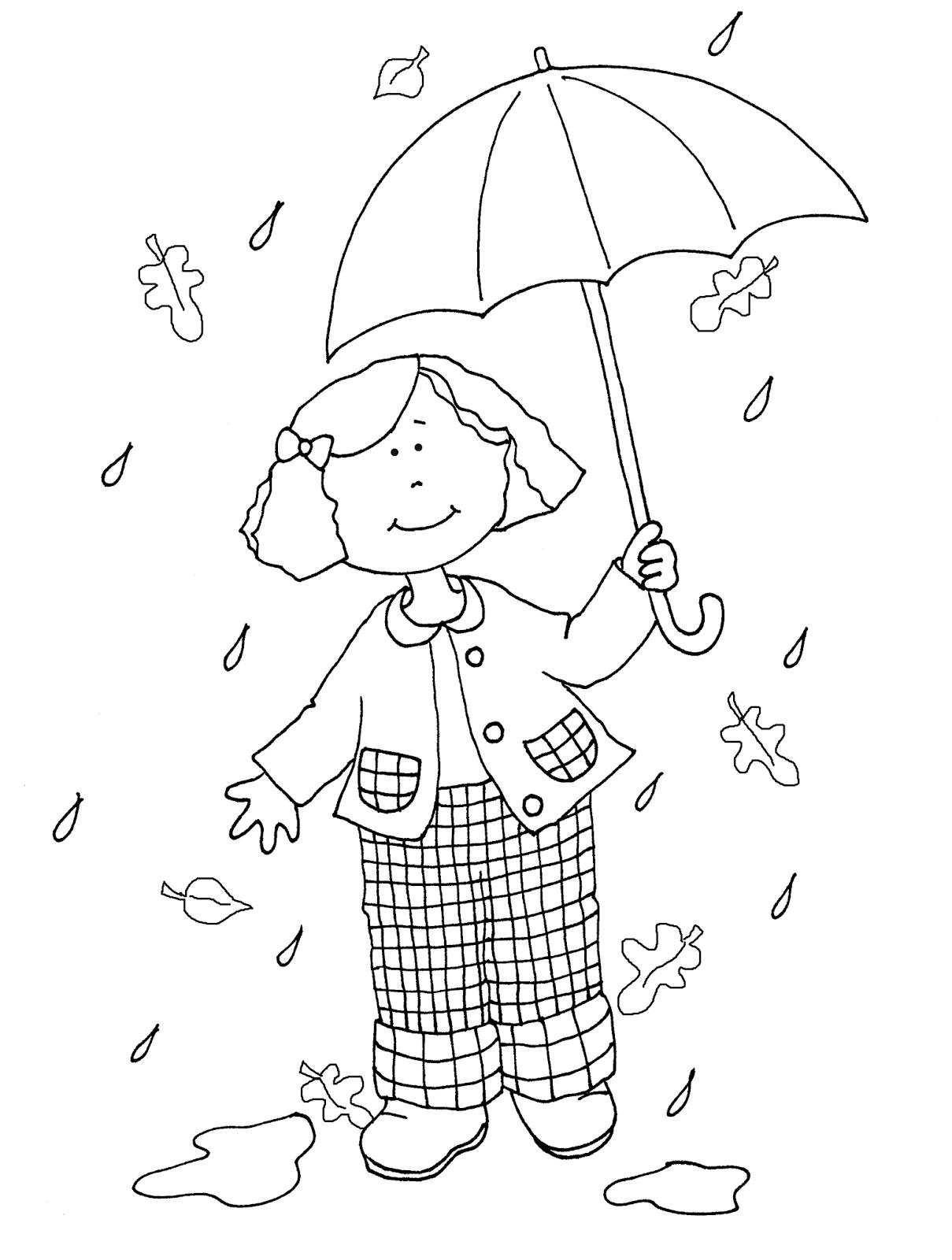 Free Dearie Dolls Digi Stamps Autumn Rain