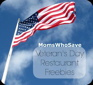 Veteran's Day Restaurant Freebies