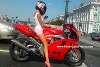 Hot Girls Photos at the Time of Motorcycle Riding