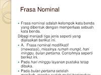 Macam Macam Frasa Dalam Bahasa Indonesia
