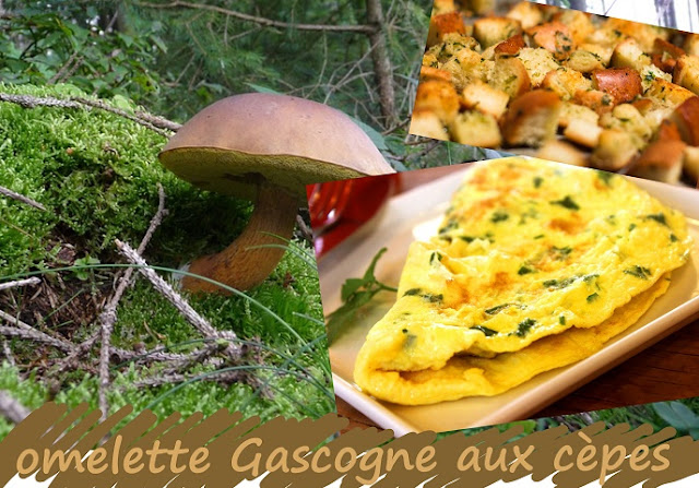 omelette aux cèpes, végétarienne, sans gluten, facile à cuisiner