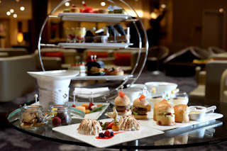 Source: Marina Mandarin. Decadent high teas in Southeast Asia's tallest atrium are served on three-tiered stands.
