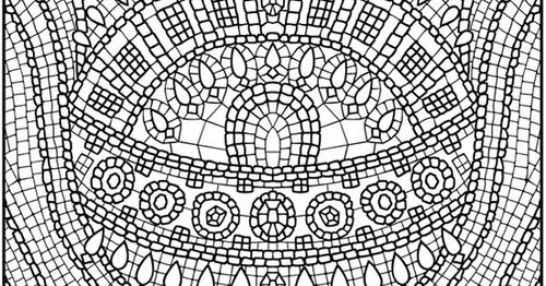 Free Mosaic Coloring Pages For Kids >> Disney Coloring Pages