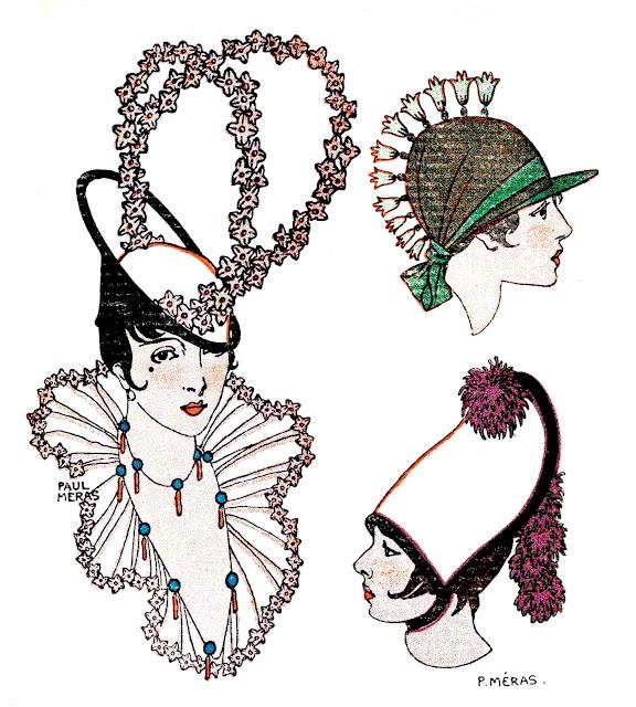1914 youth fashion France large color illustration