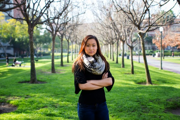 Hannah Nguyen, a University of Southern California junior and aspiring teacher who opposes the Teach for America program. Credit Monica Almeida/The New York Times