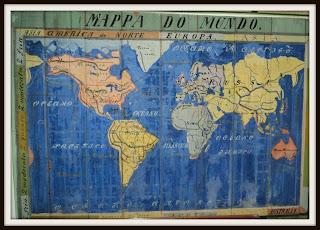 Mapa na Fundação Museu Waldemar dos Santos Boeira, São José dos Ausentes, RS