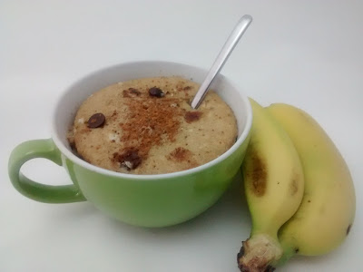 Mug Cake de Plátano y Chocolate