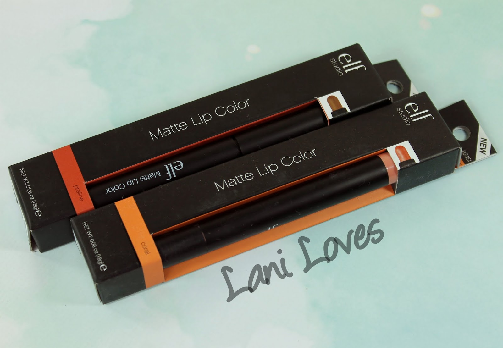 ELF Matte Lip Color - Coral and Praline Swatches & Review