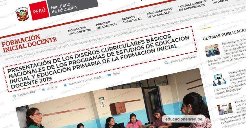 Minedu Presentación Del Diseño Curricular Básico Nacional