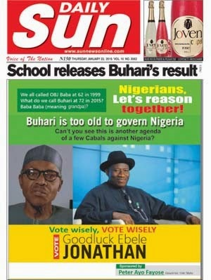fayose attack buhari sun newspaper