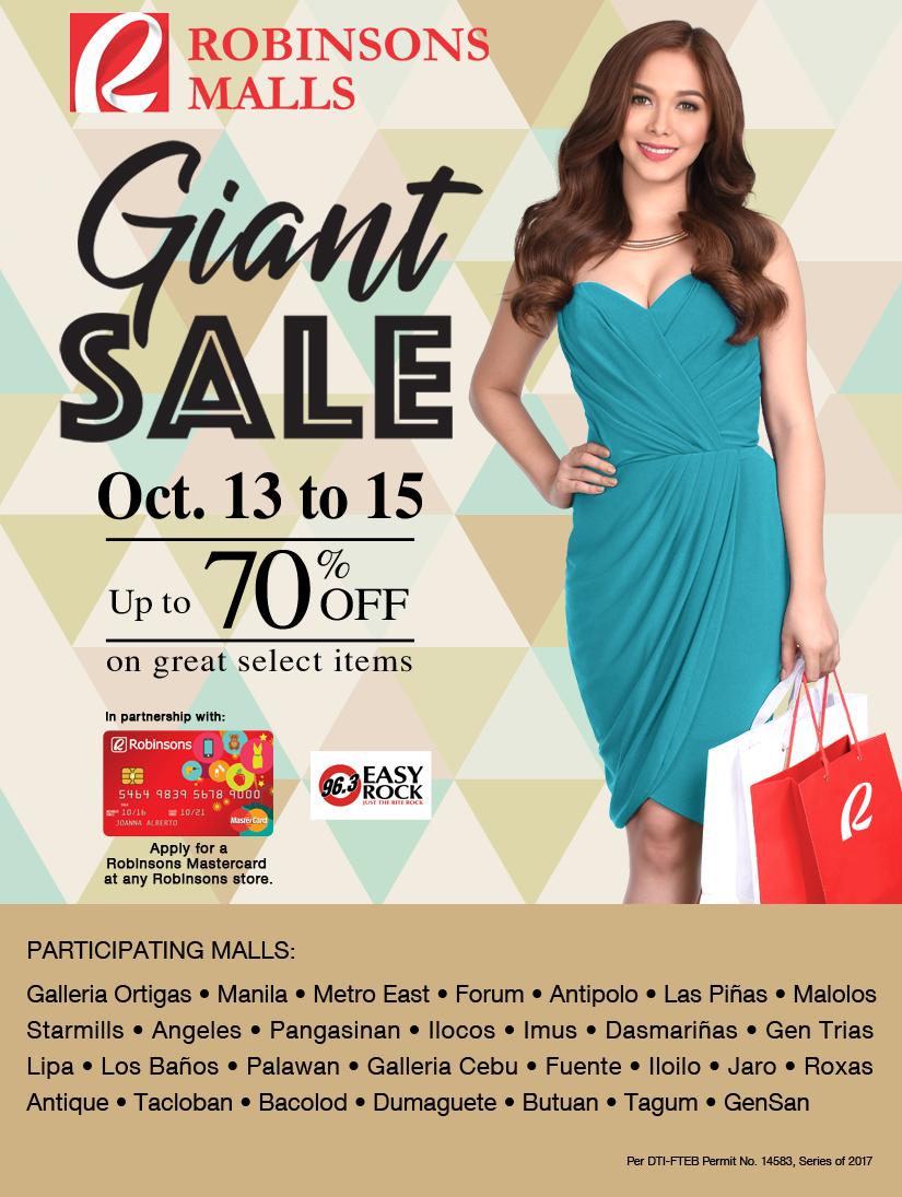 Manila Shopper Robinsons Malls Giant Sale October 2017