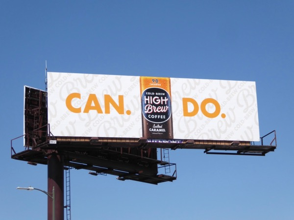 High Brew Coffee Can do billboard