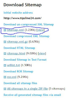 Sitemap Donload