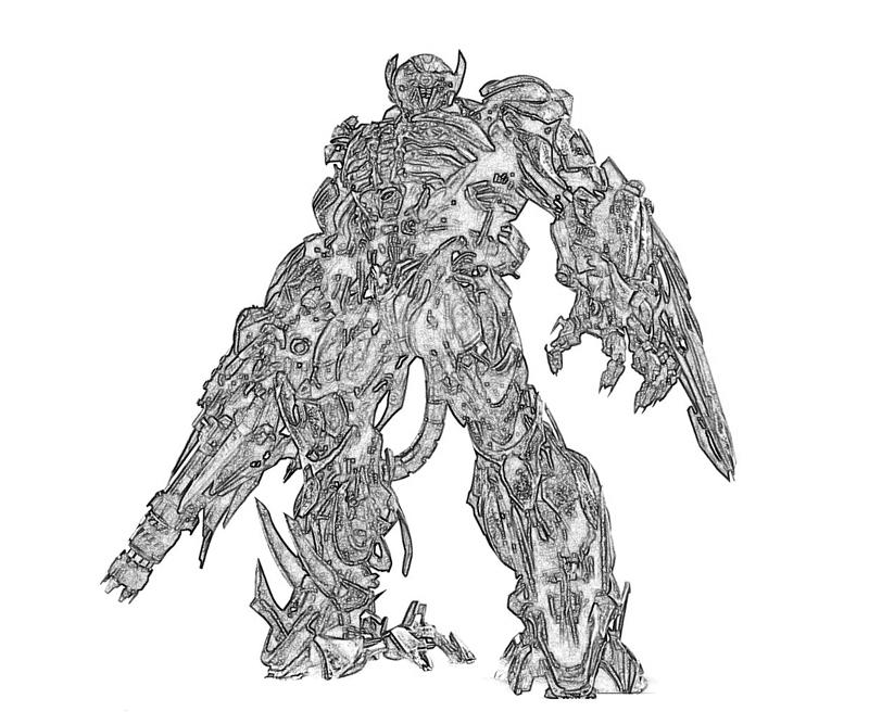 transformers 3 shockwave coloring pages | Transformer Shockwave - Free Colouring Pages