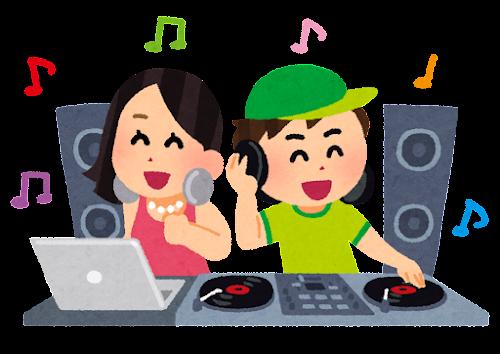 DJのイラスト(二人)