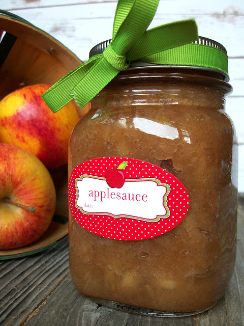 oval applesauce canning jar label