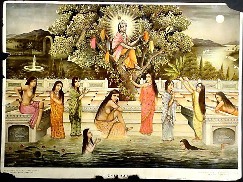 Krishna Stealing the Garments of the Unmarried Gopi Girls