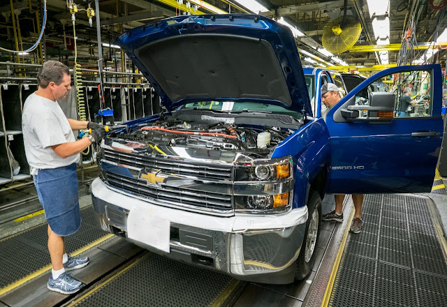 GM Flint Michigan pickup truck assembly plant