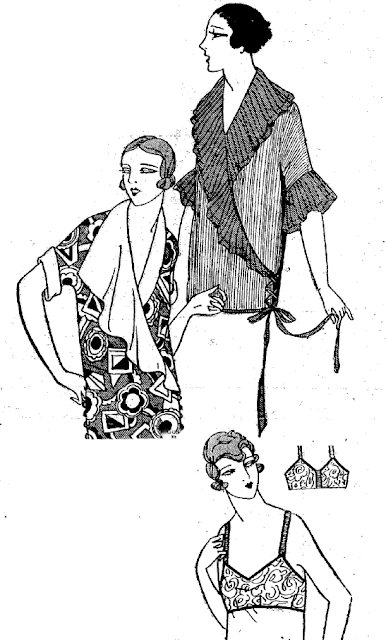 The Vintage Pattern Files: Free 1920's Sewing Pattern - Wrap Blouse & Bra