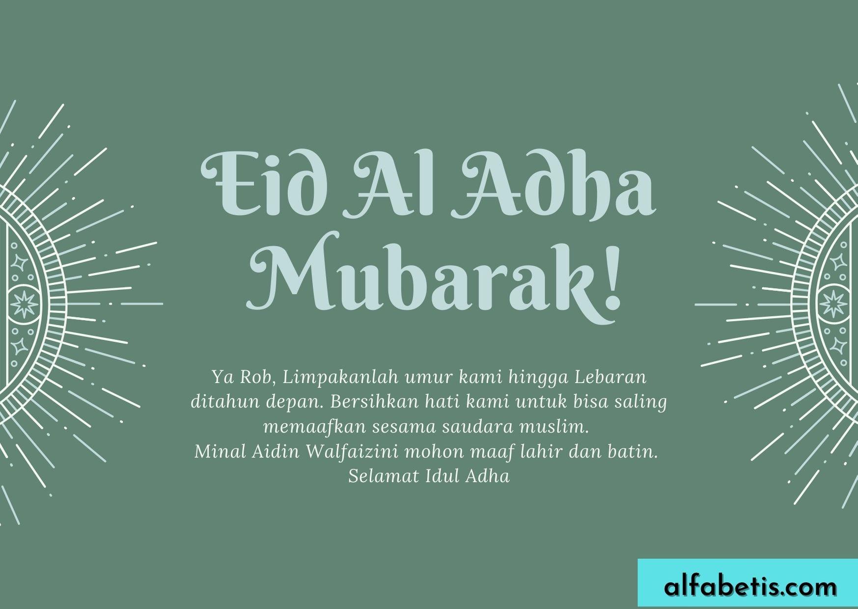 Kalimat Ucapan Selamat Hari Idul Adha 1442H