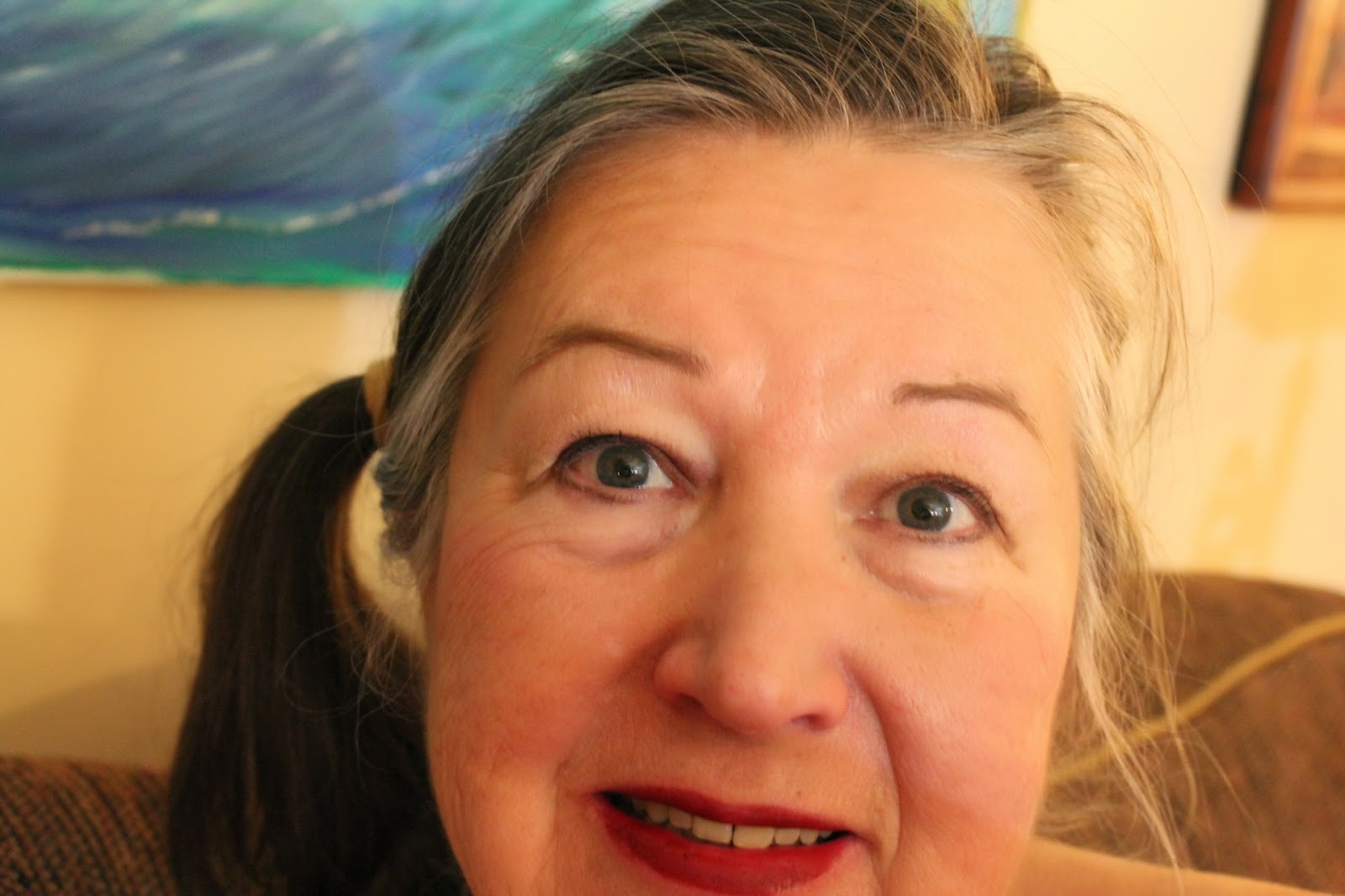 Selfie photo of me Gloria Poole of Missouri and Georgia in my living room on 15-Mar-2014.