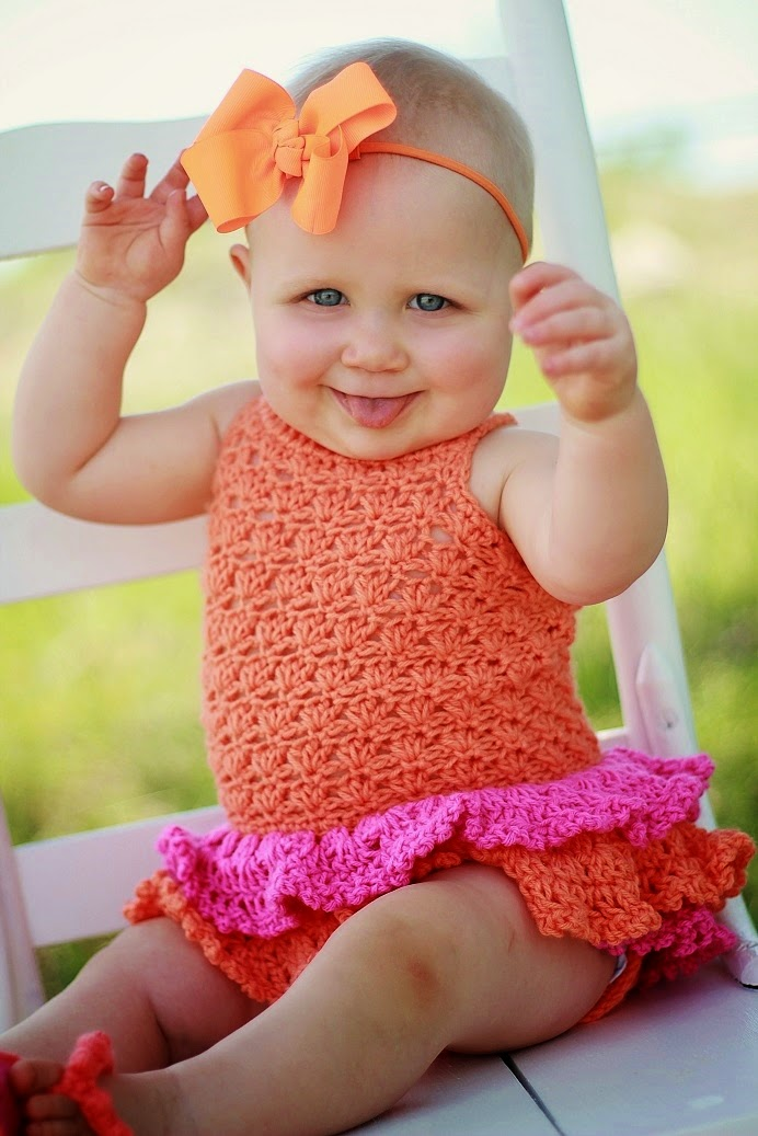 Free Crochet Pattern For Baby Romper : Crochet Dreamz: Baby Sun Suit Romper Crochet Pattern, Pdf ...