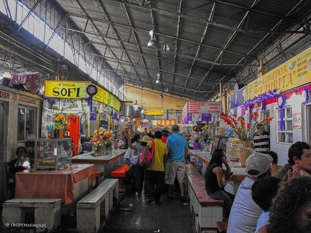 The market in Oaxaca