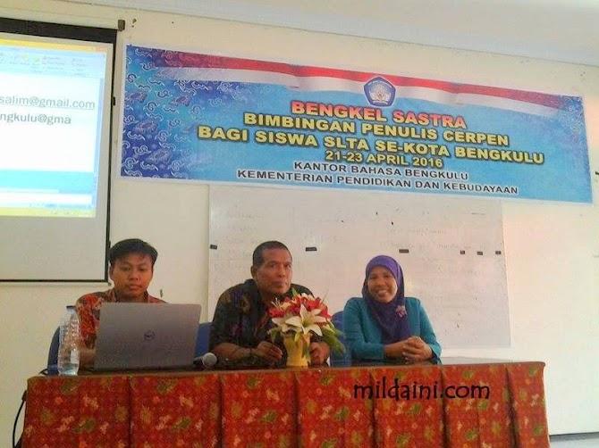 Kantor Bahasa Bengkulu Menggelar Bengkel Cerpen Bagi Pelajar SLTA