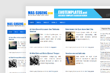Mas Sugeng 2016 Blogger Template
