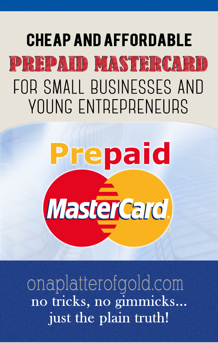 AFFORDABLE Prepaid Credit Card For Small Businesses And Young ...