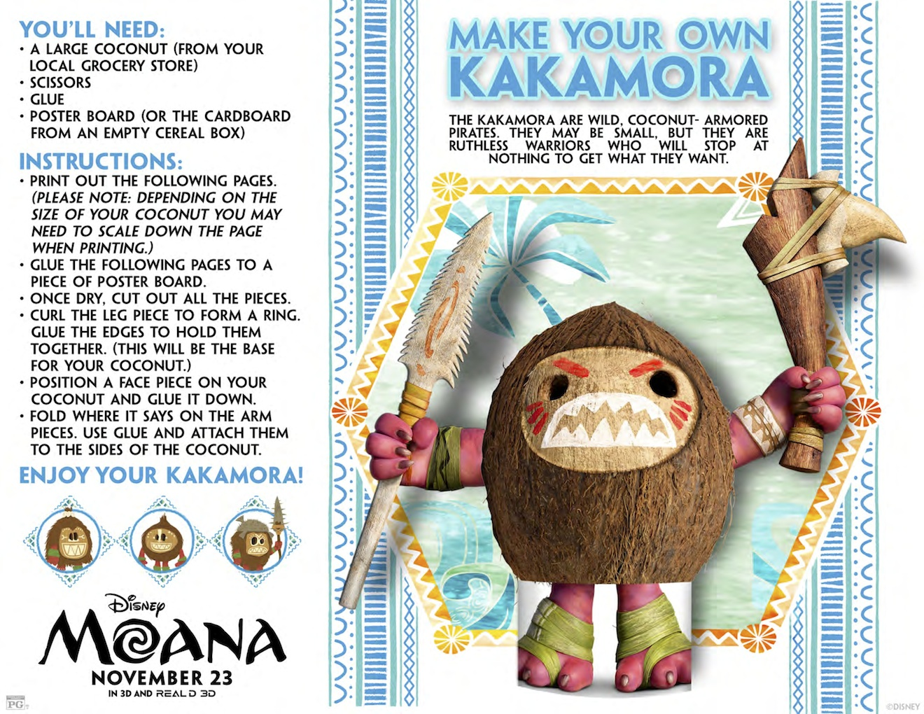 Free Printable Moana Coloring And Activity Sheets