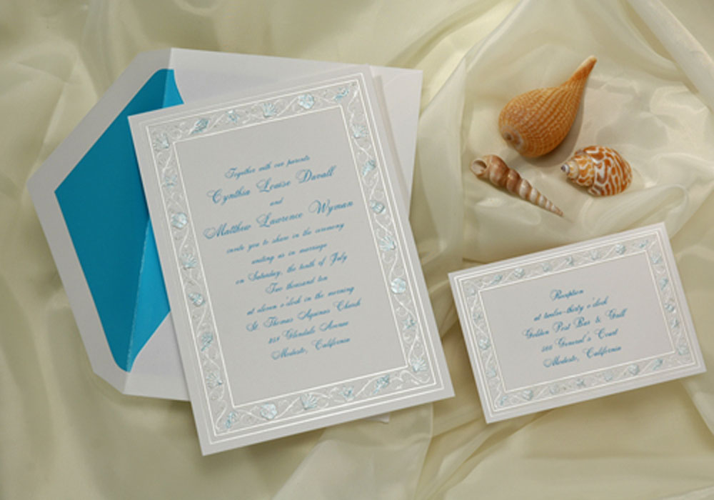 Beach Themed Wedding Invitations Templates: Beach Wedding Invitations: Beach Wedding Invitations
