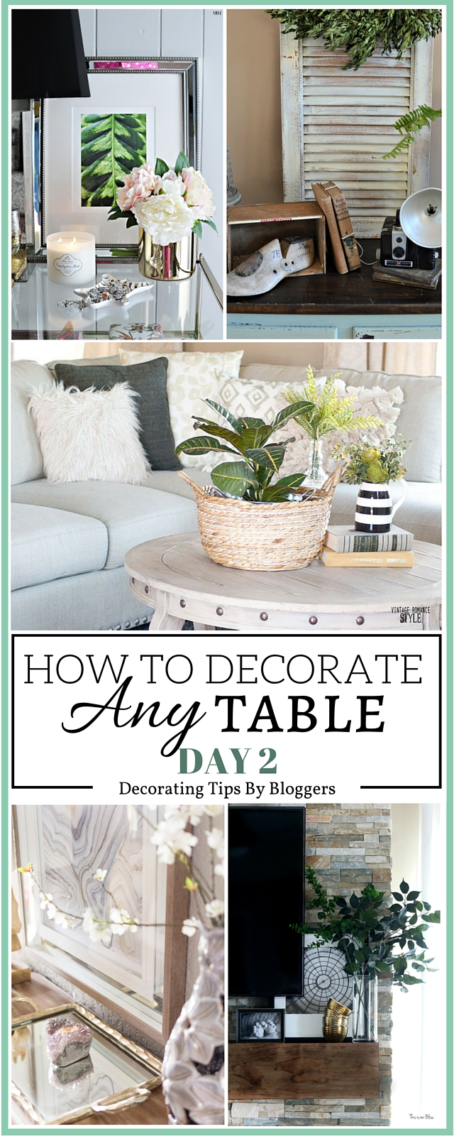 decor items for end table styling