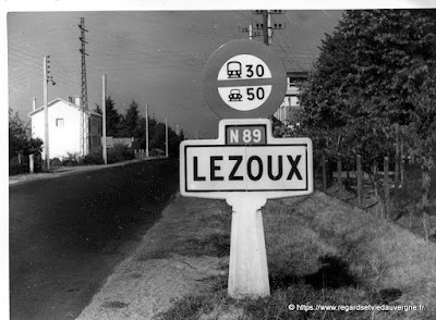 Photo noir et blanc : Lezoux.