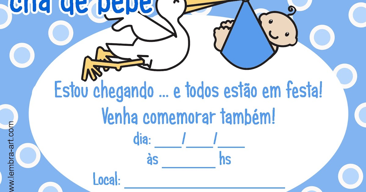 Convites De Cha De Bebe Para Imprimir Dicas Pra Mamae