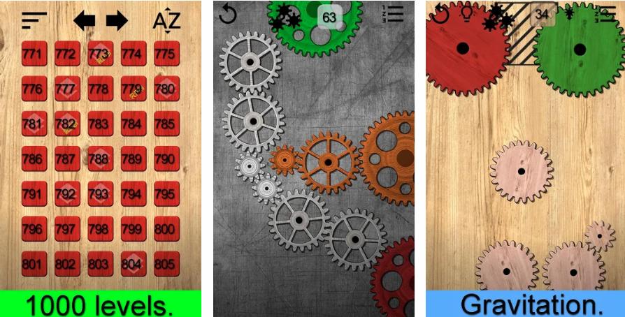 Gears logic puzzles 移動齒輪讓其全部都轉動