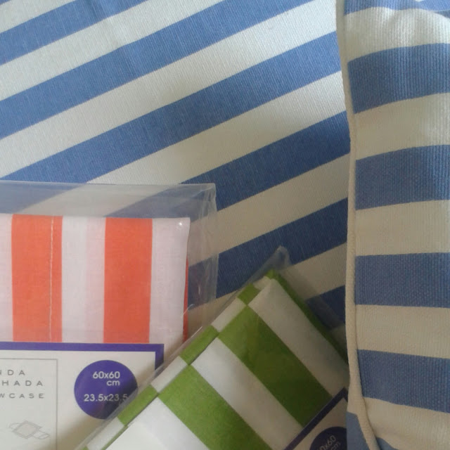 Striped cushions,  Zara home