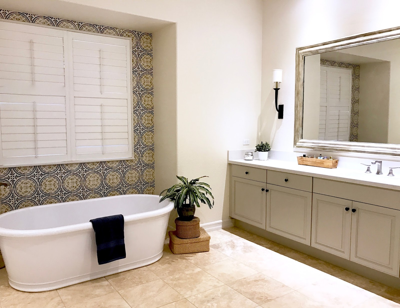 MASTER BATH BEFORE/AFTER: Fresh Mediterranean - Classic Casual Home