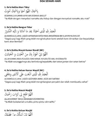 Contoh Buku Kumpulan Doa Anak PAUD Sehari-Hari Lengkap