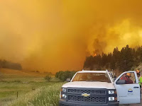 As climate change advances, BC's Lower Mainland is likely to find itself between the devil and the deepening blue sea. (Photo Credit: BC Wildfire Service) Click to Enlarge.