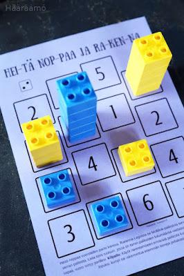 Matematiikkapeli: Heitä noppaa ja rakenna Legoilla