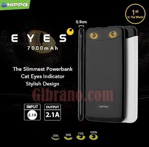 Jual Powerbank HIPPO Eyes 7000mAh Original - Hitam