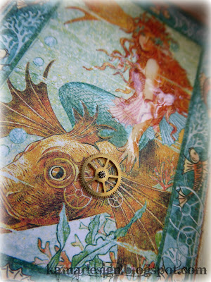 Graphic45 voyage beneath the sea altered box mermaid