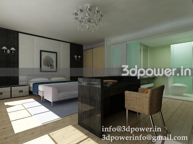 3D Home Interior Rendering & Modeling Bedroom