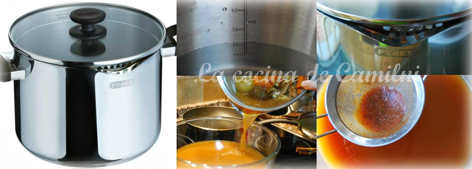 Arroz caldoso de cabracho y langostinos, a mi manera(La cocina de Camilni)