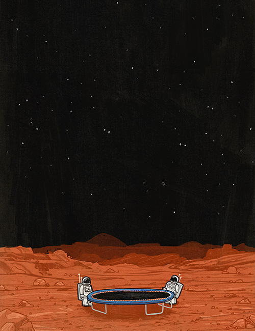 SPACE ASTRO FUN HUMOR GRAFICO