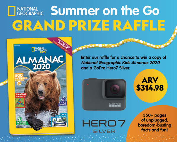 """Summer on the Go"" with #NatGeoKidsAlmanac 2020 Giveaway!"